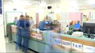 Hospital staff at desk