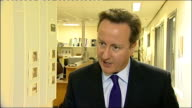 NHS hospitals and GPs to face 'friends and family' test ENGLAND Derbyshire Derby Royal Derby Hospital INT David Cameron MP interview SOT there have...