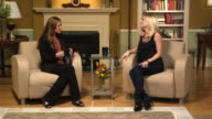 WS Host and guest on set talking, Dallas, Texas, USA