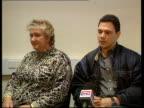 Hostel stabbing INT Sandra Foster speaking at press conference SOT She lived and died for her job Foster sitting with other relative at press...