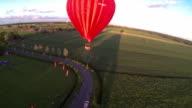 Hot air ballon fly past