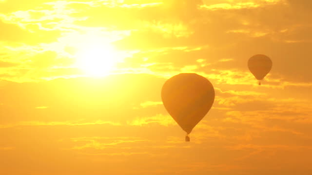 Hot Air Balloon at sunset.