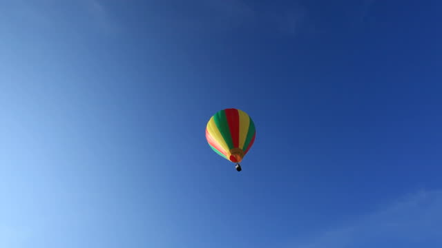 Hot Air Balloon flying away