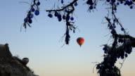 hot air balloon in the air in Cappadocia