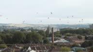 Hot Air Balloons crossing the skyline (Bristol) 7