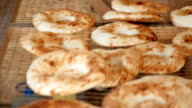 Hot and fresh traditional Middle Asian bread