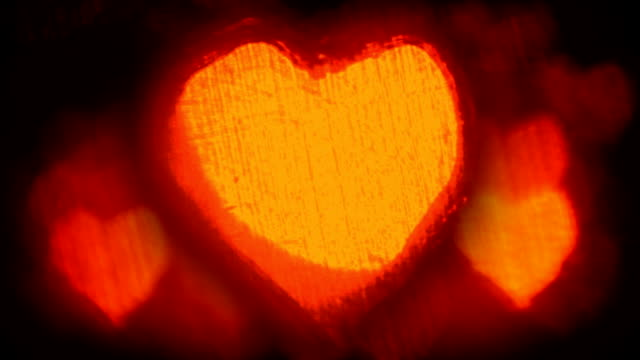 Hot beating hearts background