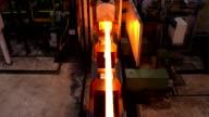 Heißen Stahl auf der Förderanlage