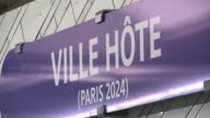Hotel de Ville subway station in Paris was renamed Ville Hote on Thursday to celebrate the city's successful bid to host the Olympic Games in 2024