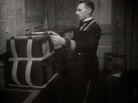Hotel guests ring down to the porter to request a television set is brought to their room
