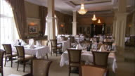 Hotel restaurant, traditional decor, Lough Erne, Northern Ireland