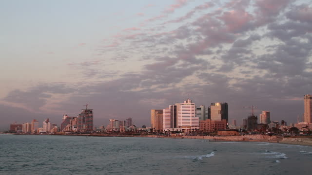 hotels on tel aviv beach, view from the sea