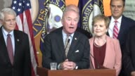House Appropriations Committee Chairman Rodney Frelinghuysen speaks at a press briefing to credit fellow appropriators for deliverables a twopart 12...