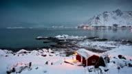 TIME LAPSE: House at Arctic Coastline