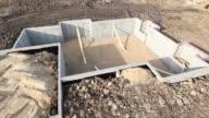 House Untergeschoss Wand Foundation Schwenken Luftaufnahme