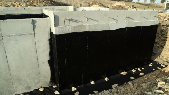 House Basement Wall Foundation with Waterproof Sealant