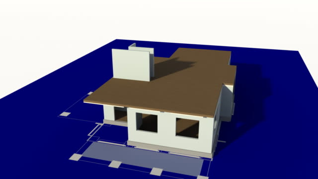 House Constructed on a Blueprint
