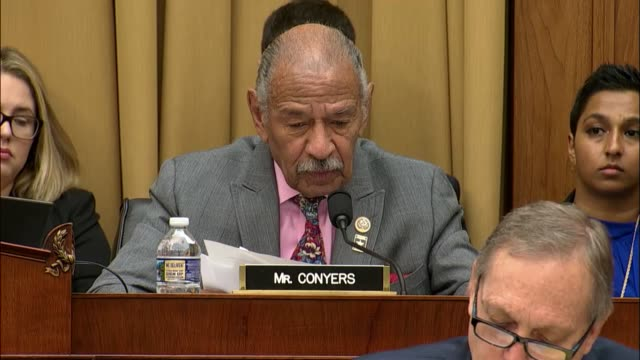 House Judiciary Committee ranking Congressman John Conyers says he would rather spend time at an oversight hearing discussing the upkeep of the...