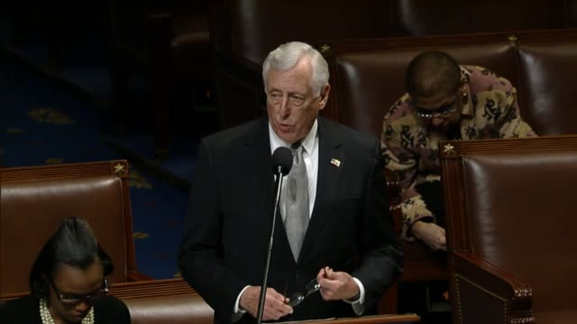 House Majority Leader Kevin McCarthy of California tells Minority Whip Steny Hoyer that he was a member of Congress when the Affordable Care Act was...