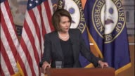 House Minority Leader Nancy Pelosi is asked by a reporter at a weekly briefing about a dispute between device manufacturer Apple and the FBI about...