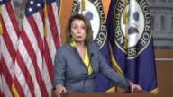 House Minority Leader Nancy Pelosi of California conducts a weekly briefing with reporters as the American Health Care Act was under negotiation...