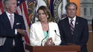 House Minority Leader Nancy Pelosi of California introduces guests at a weekly briefing with reporters Pelosi says that as a big believer in prayer...