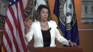 House Minority Leader Nancy Pelosi of California opens a regular weekly news conference with remarks about a very productive meeting with Senator...
