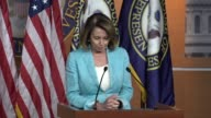 House Minority Leader Nancy Pelosi of California opens a weekly briefing with reporters The day after House Majority Whip Steve Scalise and others...