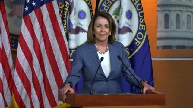 House Minority Leader Nancy Pelosi of California takes questions from reporters at a regular weekly press briefing about stopping cost sharing...