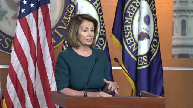 House Minority Leader Nancy Pelosi of California tells a reporter at a weekly briefing that she does know what know what he might know about...