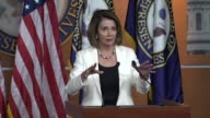 House Minority Leader Nancy Pelosi of California tells reporters at a regular weekly press briefing that the Dream act provides a long 15 year path...