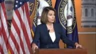 House Minority Leader Nancy Pelosi of California tells reporters it would take her all day to tell them what she thinks he should be doing that his...