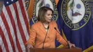 House Minority Leader Nancy Pelosi of California tells reporters that the reason Democrats have been saying Attorney General Jeff Sessions should...