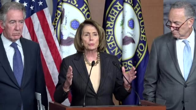 House Minority Leader Nancy Pelosi of California tells reporters hours after House Republicans release a tax reform bill that it raises taxes on...