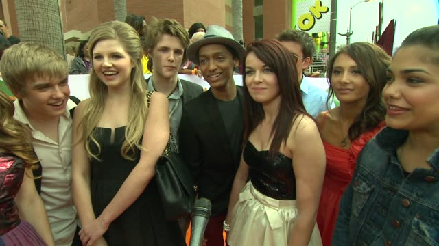 House of Anubis Cast on this being their first time at the KCA's what they are most looking forward to which cast member they would like to see...