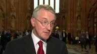 House of Commons votes on air strikes in Syria Shows interior shot Hilary Benn MP stating why he feels ISIS need to be tackled with military force on...