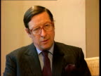 Conservative Split ENGLAND London Max Hastings interview SOT Country is not listening to what the Tories have to say Westminster i/c