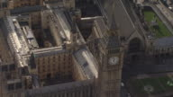 House of Parliament Big Ben Overview by Helicopter