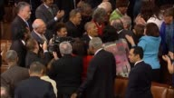 House Sergeant at Arms Paul Irving announces the entrance of President Barack Obama to deliver his final State of the Union address to a Joint...