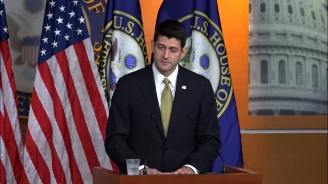 House Speaker Paul Ryan of Wisconsin answers questions from reporters at a weekly press briefing beginning with a tweet by President Trump the...