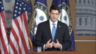 House Speaker Paul Ryan of Wisconsin is asked about political pressure on House Republicans who voted for the American Health Care Act feeding the...