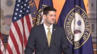 House Speaker Paul Ryan of Wisconsin is asked about the Senate battle over filling a Supreme Court vacancy saying that President Obama has every...