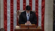 House Speaker Paul Ryan pauses a series of votes to call on members to rise for a moment of silence days after record flooding afflicted Texas and...