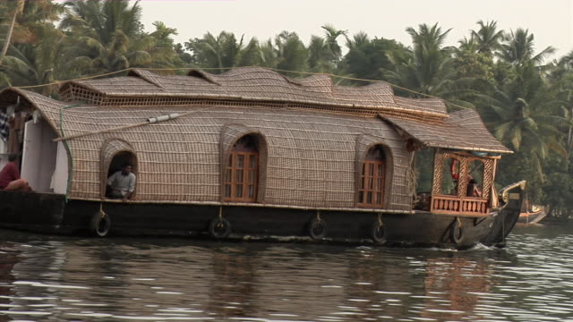 MS, Houseboat (kettuvallam) on Backwaters of Kerala, India