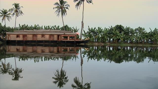 WS, PAN, Houseboat (kettuvallam) on Backwaters of Kerala, India