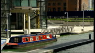 Houseboat owners defy eviction order from developers / general views of houseboats moored in Paddington Basin ENGLAND London Paddington Basin EXT...