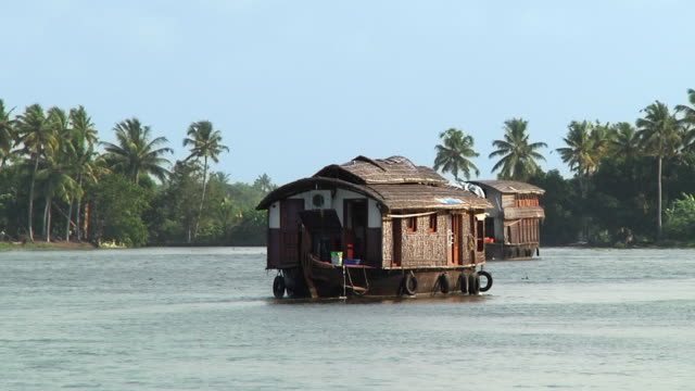 WS Houseboat sailing on Kerala backwaters / Cochin, Kerala, India