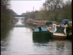 Houseboats ENGLAND MS Boats on canal bank PULL OUT