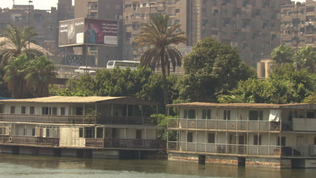Houseboats on River Nile, Cairo, Egypt