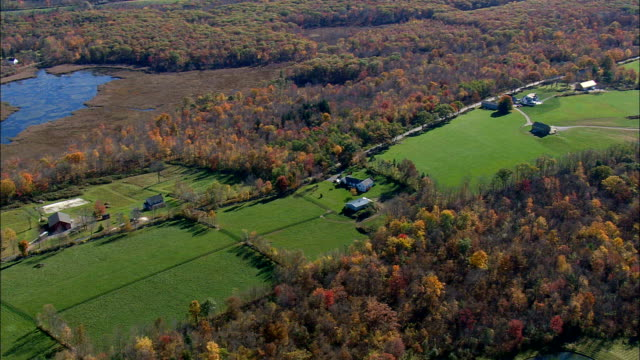 Houses And Farms In Litchfield County  - Aerial View - Connecticut,  Litchfield County,  United States